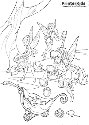 Tinkerbell Coloring Pages Preview
