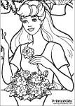 Online Coloring Page with Barbie