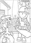 Online Coloring Page with Bob the Builder