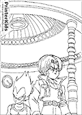 Online Coloring Page with Dragon Ball Z