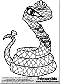 Online Coloring Page Cleo De Nile From Monster High