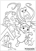 Online Coloring Page with Monsters Inc
