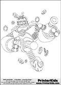 Online Coloring Page Bouncer From Skylanders