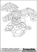 Online Coloring Page Slam Bam From Skylanders Giants