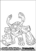 coloring page with the life element tree themed character tree rex from skylanders