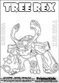 skylanders giant tree rex letter practice and coloring page - Skylander Coloring Pages Tree Rex