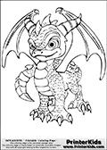 Online Coloring Page Spyro From Skylanders
