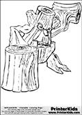 Online Coloring Page Stump Smash From Skylanders