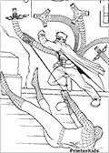 Online Coloring Page with Spiderman
