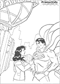 Online Coloring Page with Superman