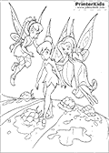 Online Coloring Page with Tinkerbell - Coloring page #25 of 59