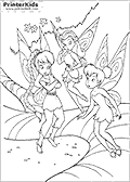 Online Coloring Page with Tinkerbell - Coloring page #40 of 59