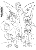 Online Coloring Page with Tinkerbell - Coloring page #50 of 59