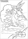 Online Coloring Page with Tinkerbell - Coloring page #58 of 59
