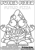 Online Coloring Page with Trash Pack