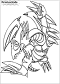 Online Coloring Page with Yu Gi Oh!