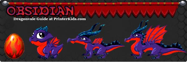 Dragon Vale Obsidian Dragon