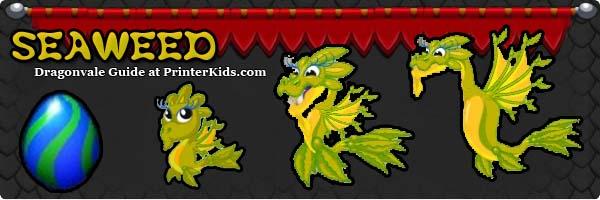 Dragonvale Guide seaweed