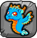 turquoise Dragonvale Baby Dragon