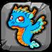 Turquoise Dragonvale Baby Drage
