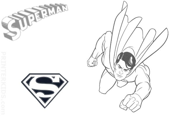 coloring pages to print out superman