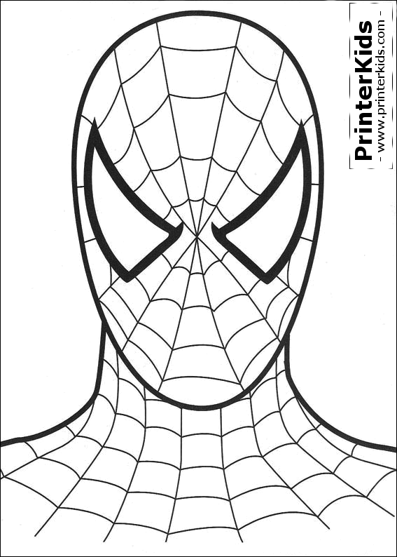 Printable Spiderman Mask Spiderman Coloring Page