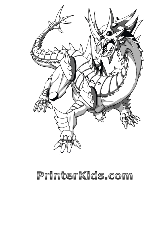 bakugan hydranoid coloring pages - photo#7