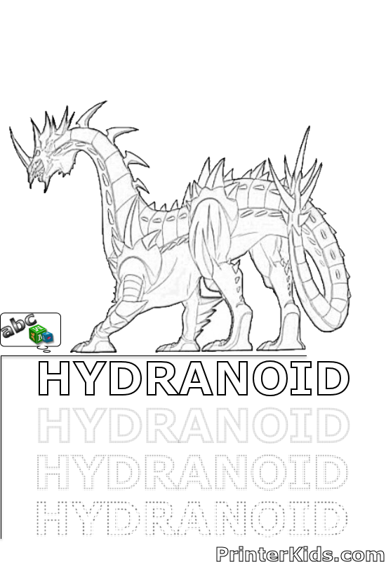 bakugan hydranoid coloring pages - photo#4