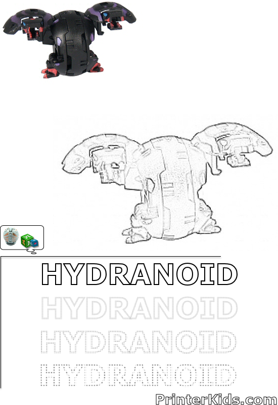 bakugan hydranoid coloring pages - photo#5