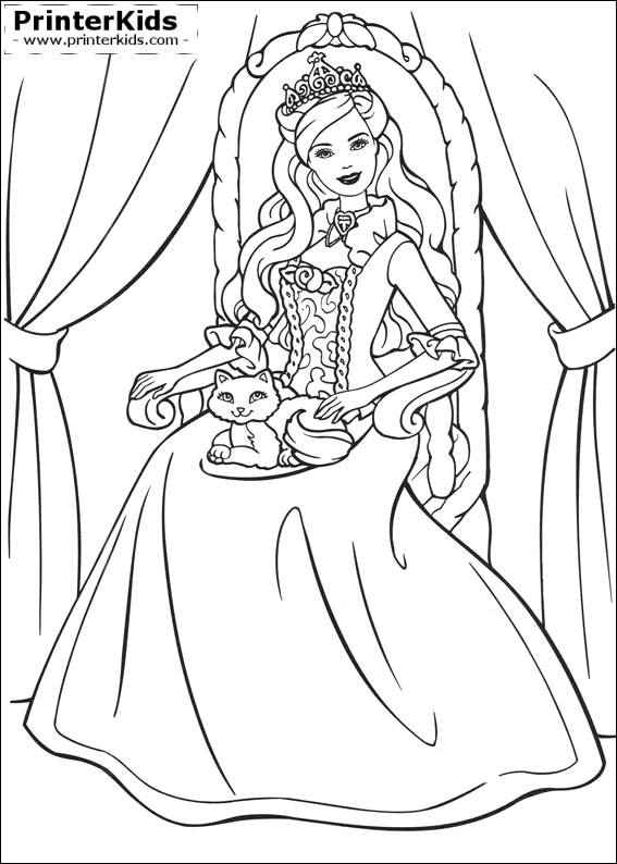 coloring pages princess barbie - photo#31