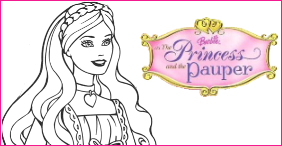 Barbie princess and pauper printable coloring pages for Barbie princess and the pauper coloring pages