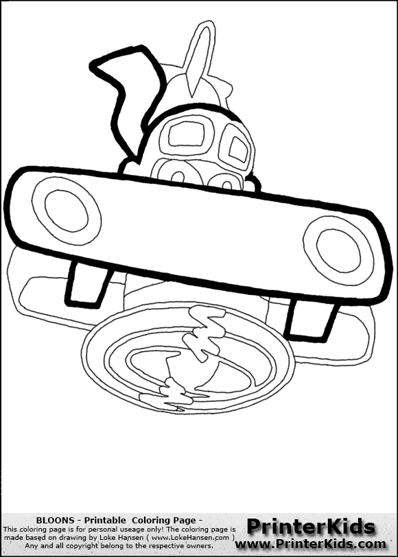Coloring Pages Unblocked : Balloon tower defense coloring pages clipart library