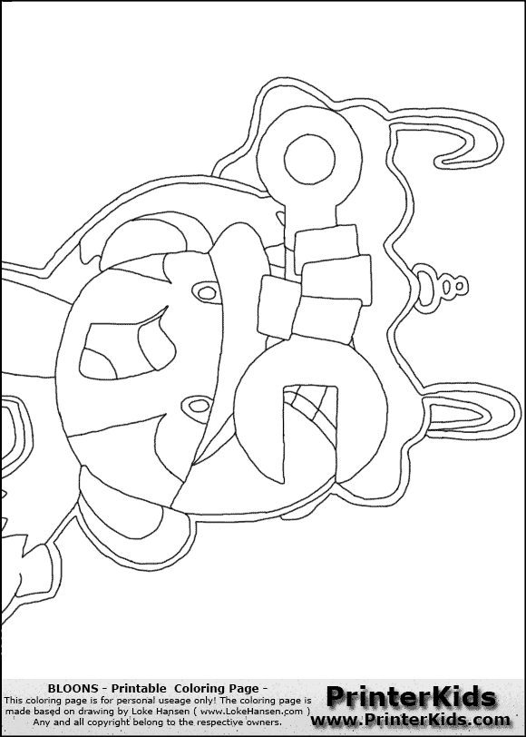 Clash Of Clans Coloring Pages Pdf : Bloons tower defense coloring pages