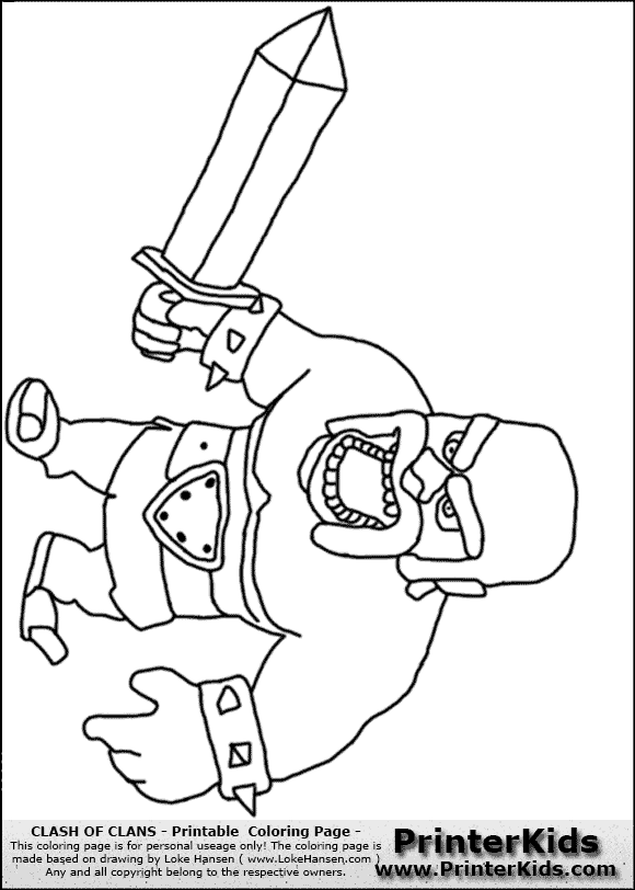 Clash of Clans Drawings Clash of Clans Barbarian 2
