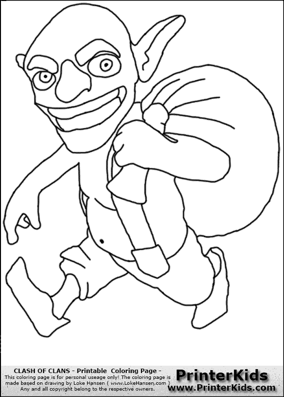 Clash of Clans Goblin Coloring Page