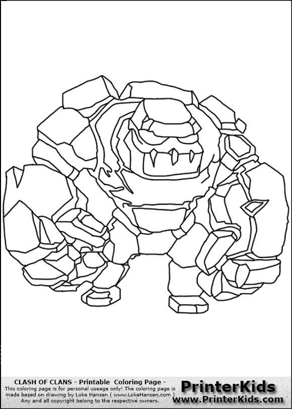 Archer Clash of Clans Drawing Clash of Clans Golem