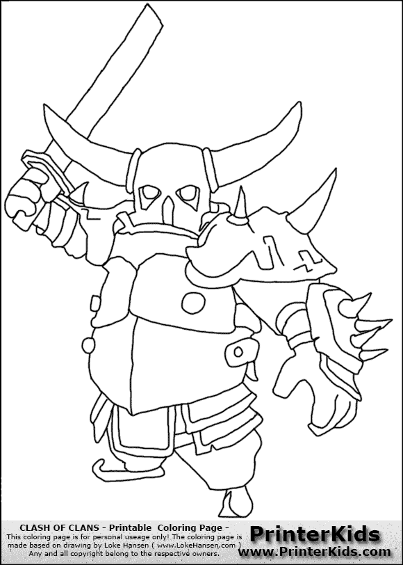 Sarah's Super Colouring Pages: Clash of Clans