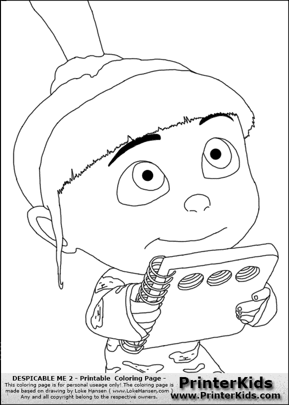 Despicable me 2 ig free colouring pages for Despicable me coloring pages printable