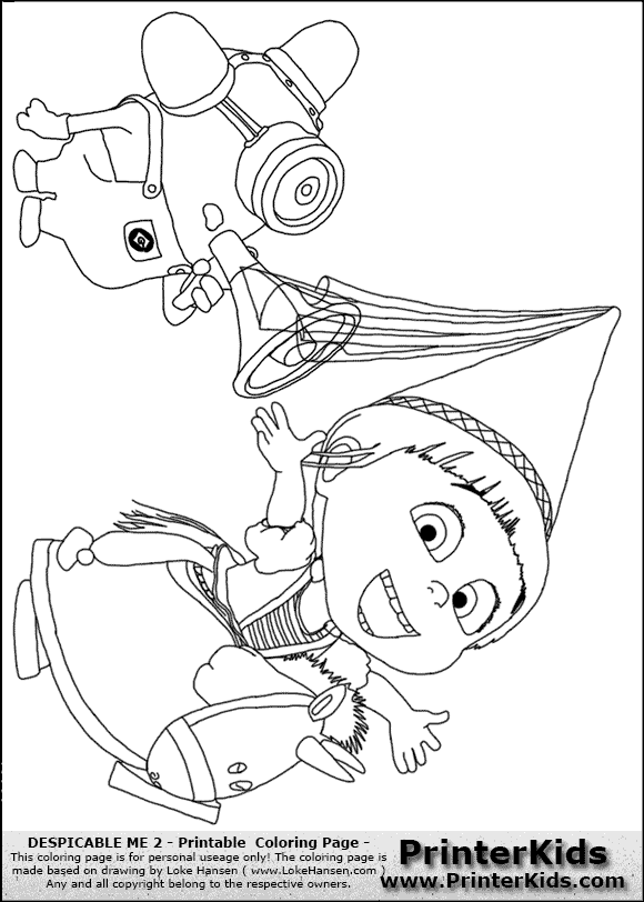 coloring pages despicable me minion coloring pages margo edith