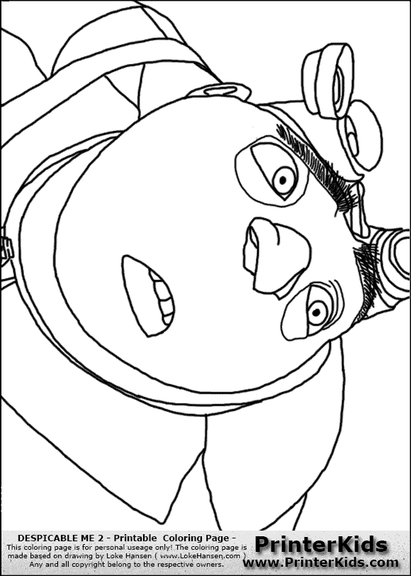 Gru Symbol Coloring Pages