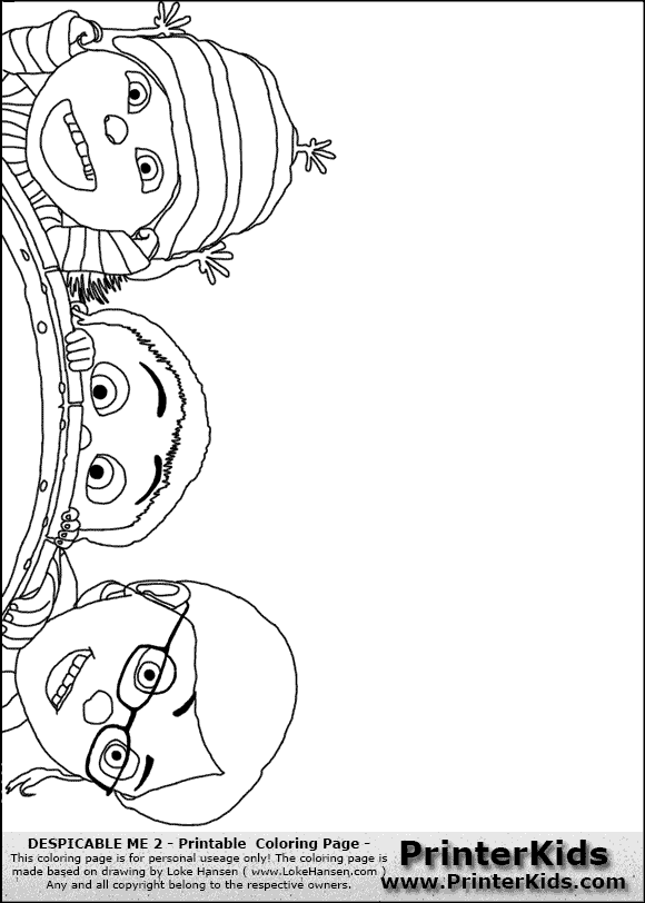 Free coloring pages of lucy from despicable me 2