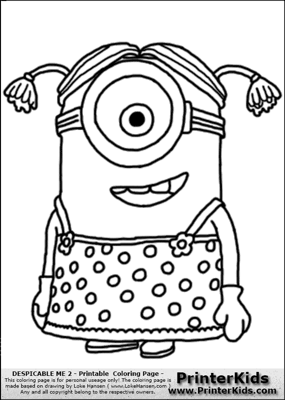 Free Coloring Pages Of Bob The Minion
