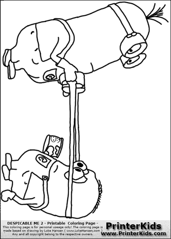 One Eye Minion Coloring Pages