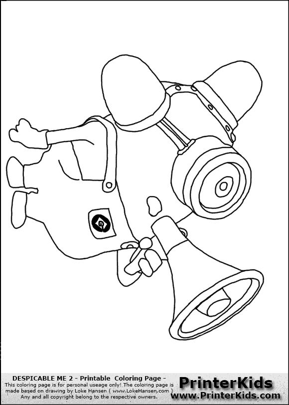 despicable me minion bee boo fire coloring page preview with minion color pages