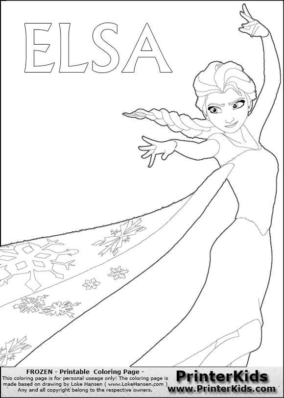 Disney Frozen Elsa Coloring Pages