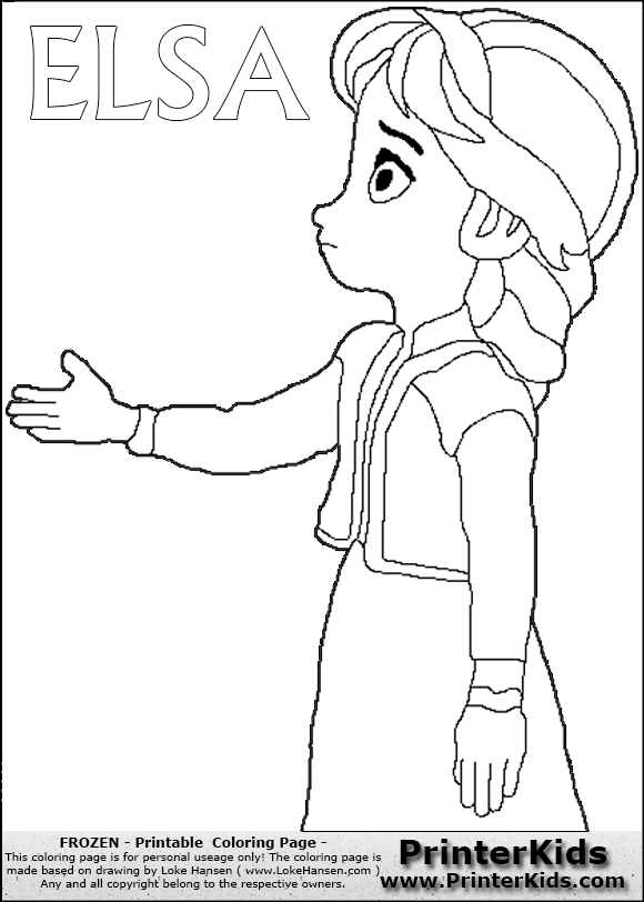 Color Page Online Frozen Coloring Pages Young Anna
