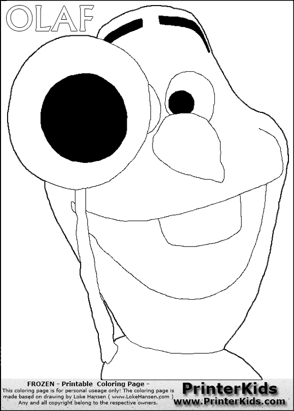 gallery for disney olaf coloring pages