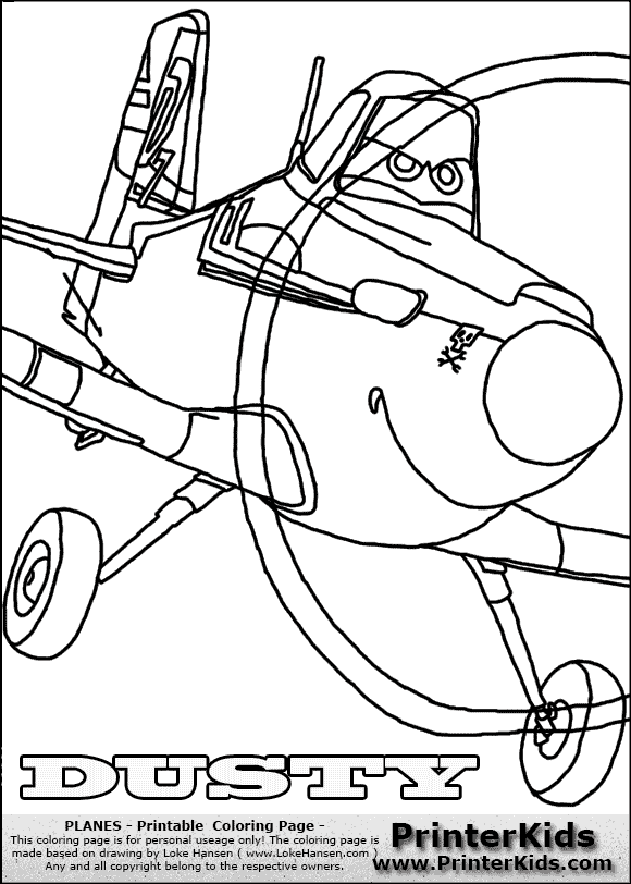 Dusty Coloring Pages