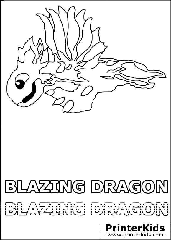 dragonvale blazing dragon juvenile coloring page
