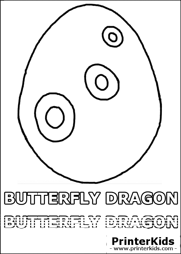 Butterfly Eggs Coloring Pages